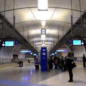 Interiör på ny tågstation.