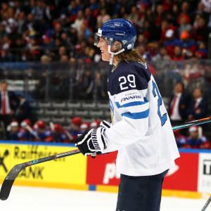 Patrik Laine och Aleksander Barkov, ishockey-VM 2016.