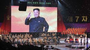 Avslutningskonserten vid det nordkoreanska Arbetarpartiets partikongress 11.5.2016