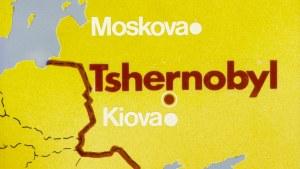 Uutisgrafiikkaa Tshernobylin ydinvoimalaonnettomuudesta vuonna 1986.