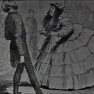 en svartvit bild som föreställer Biedermeierepoken