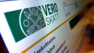 Skatteverkets webbsida.