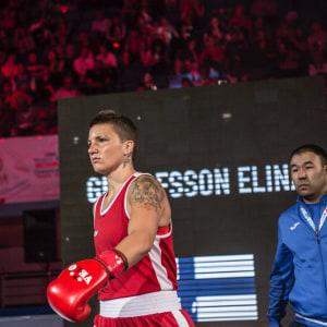 Elina Gustafsson i VM-semifinalen.