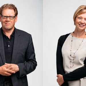 Ville Vilen ja Marit af Björkesten vierekkäin