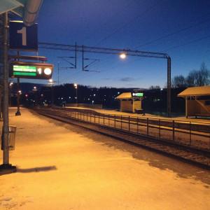 Stationen i Sjundeå.