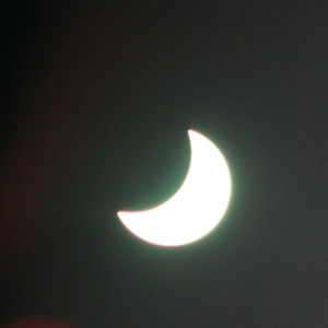 Håkan Forss i Jakobstad fotograferade solförmörkelsen.