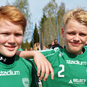 David och Axel från Skuru IK på Sjundeå cup