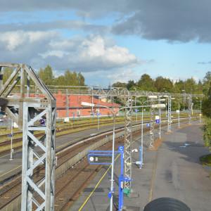 Karis järnvägsstation.