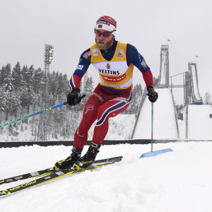 Martin Johnsrud Sundby på väg mot seger i Lahtis.