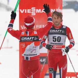 Martin Johnsrud Sundby och Petter Northug.