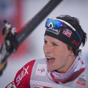 Marit Björgen är tillbaka i tävlingsspåret.