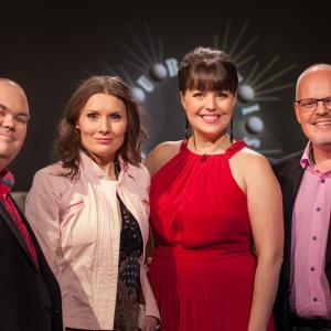 De Eurovisa Johan Lindroos, Marika Krook, Eva Frantz och David Lindström.
