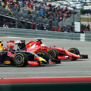 Sebastian Vettel och Daniil Kvyat, hösten 2015.