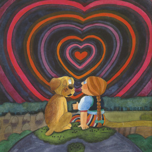"""Illustration ur Camilla Mickwitz barnbok """"Emilia och lyckan""""."""