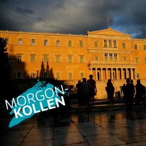 Morgonkollen - Demonstration utanför det grekiska parlamentet 22.5.2016 mot planerade nedskärningar.