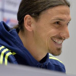 Zlatan Ibrahimovic under en presskonferens på torsdagen i Stockholm.
