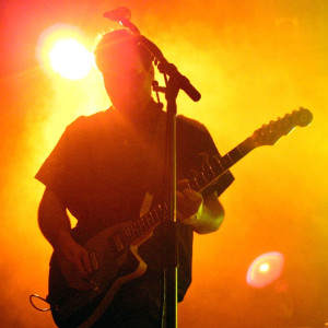 En gitarrist på scen