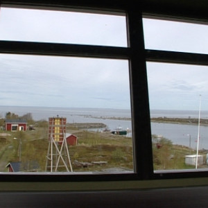 Utsikt från tornet på Valsörarnas sjöbevakningsstation