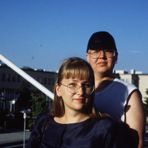 Tiina Miettinen poikaystävänsä Jiri Talevan kanssa