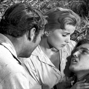 Richard Egan, Debra Paget ja Elvis Presley elokuvassa Rakasta minua hellästi