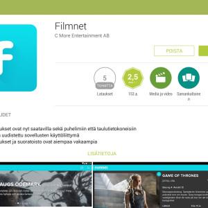 Filmnet Google Play -kaupassa