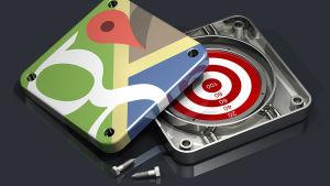 Google maps logo ja maalitaulu