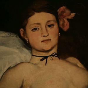 Édouard Manet'n maalaus Olympia, yksityiskohta