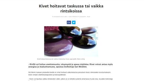 Kuvakaappaus Yle Puheen Hoidossa-sarjan artikkelista