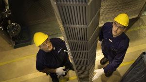 Ydinpolttoaineen putkien tarkastus.