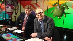 Vappu-Uutisvudossa vieraina nähdään näyttelijät Jukka Puotila ja Martti Suosalo.