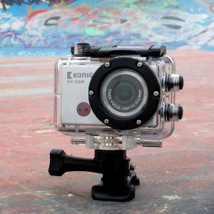 Action-kamerat Denver, Konig ja GoPro rivissä maassa.