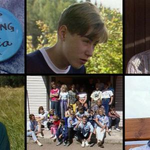 Neljä nuorta tšernobyliläistä haastattelussa vuonna 1990.