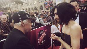 Kari Aalto ja Conchita Wurst Wienissä