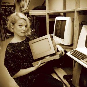 Hanna är nostalgisk över gamla datorer