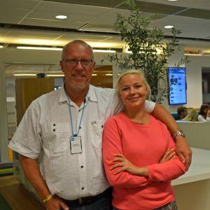 Ole Jacobsen och Julie Rosenkilde är värdar för programmet Kaupunki i P4 Köbenhavn.