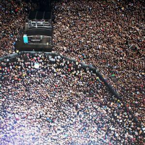 publikbild från rockfestivalen Ruisrock