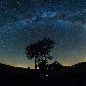 Stjärnhimlen över Ungern sommaren 2015.