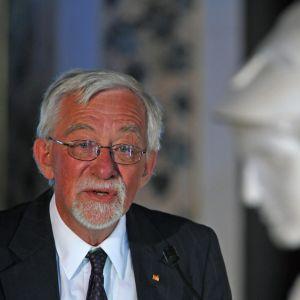 Den svenska författaren Lars Gustafsson fotograferad den 28 augusti 2009.