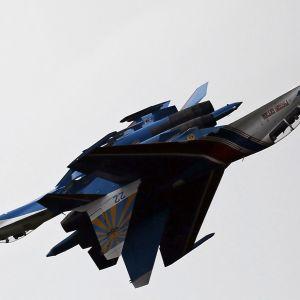 Ryskt jaktplan vid en flyguppvisning utanför Moskva 1.8.2015