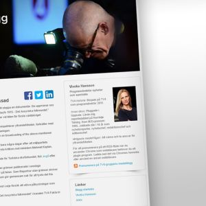 Skärmdump från TV4:s medieblogg.