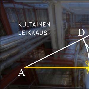 Grafiikka siitä, kuinka kultainen leikkaus määritellään geometrian keinoin