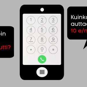 Älypuhelin ja puhekuplat, grafiikka