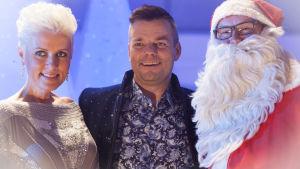 Hanna-Riikka Siitonen, Jari Sillanpää, joulupukki, Janne Virtanen