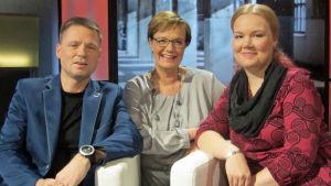 Aki-Mauri Huhtinen, Hilla Blomberg, Anni Myllylä