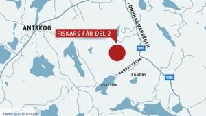 En karta som visar ett markområde Fiskarsbolaget får av Raseborg.