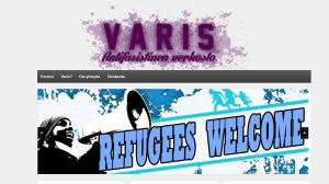 Screencap av Varisverkostos webbsida.