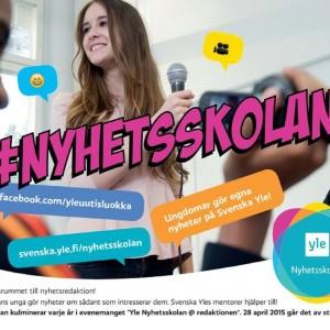 En plansch för Yle Nyhetsskolan.