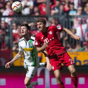 Thomas Müllers mål räckte inte till seger mot Borussia Mönchengladbach.