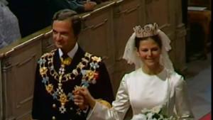 Kung Carl XVI Gustaf och Silvia Sommerlath gifter sig
