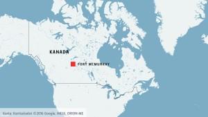 Enorm skogsbrand i Kanada 4 maj 2016 - en hel stad evakuerades.